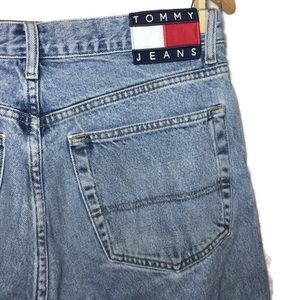 Vintage Tommy Jeans Flag Logo Denim High Waist